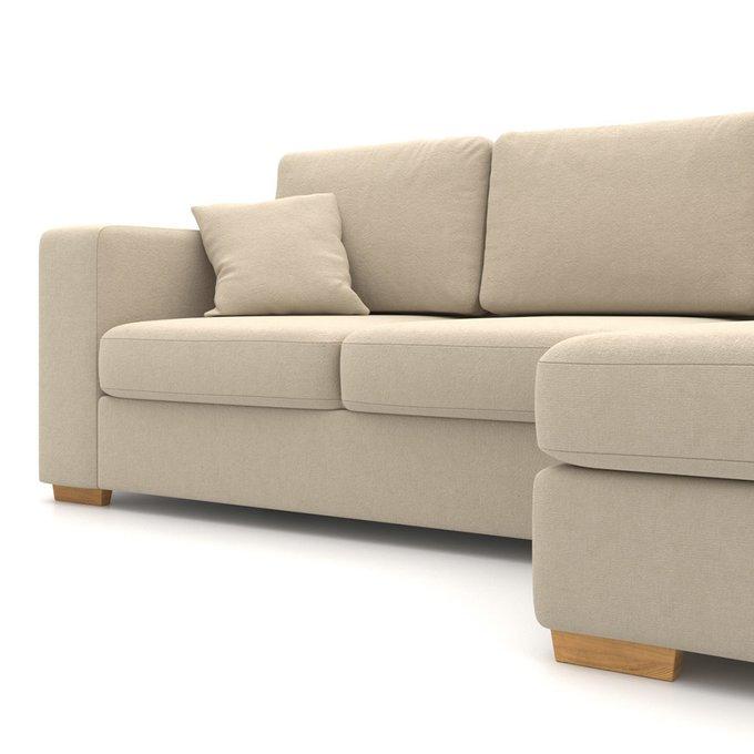 Угловой диван-кровать Morti EKL бежевого цвета