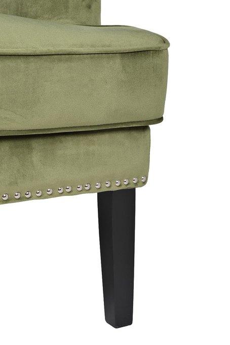 Кресло оливкового цвета с подушкой