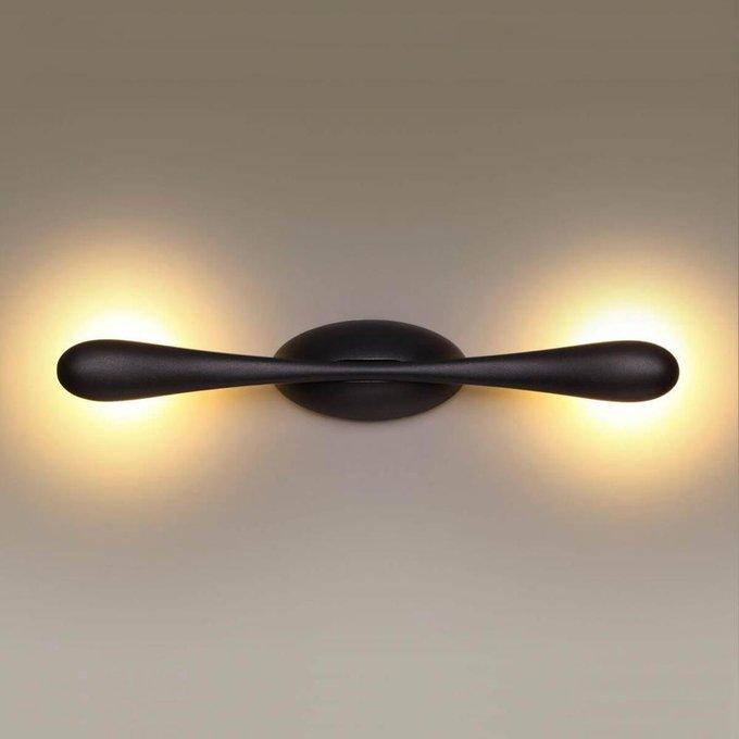 Настенный светодиодный светильник Bato черного цвета