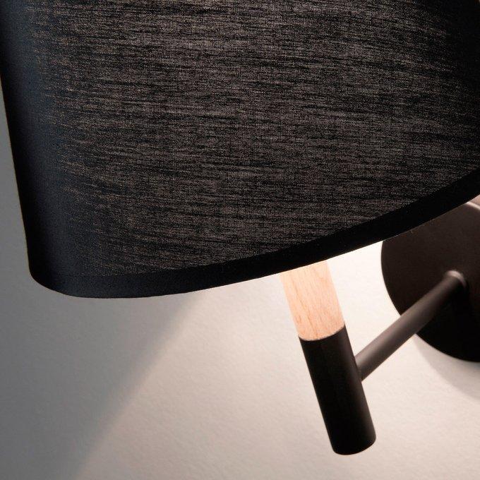 Настенный светильник Julia Grup MOSKOV с черным абажуром