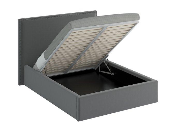 Кровать Blues Lift серого цвета 160х200
