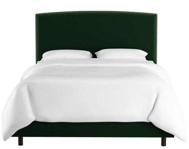 Кровать Everly Emerald зеленого цвета 160х200