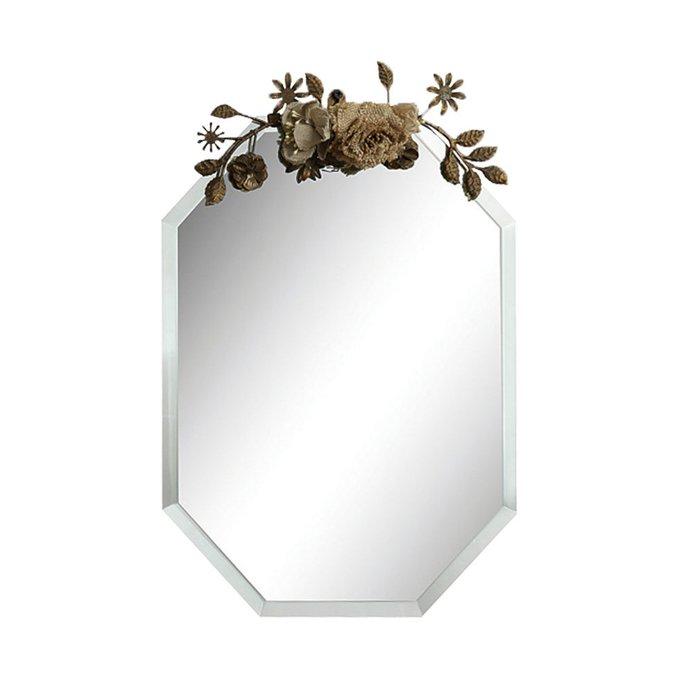 Зеркало Beveled Glass в металлической раме
