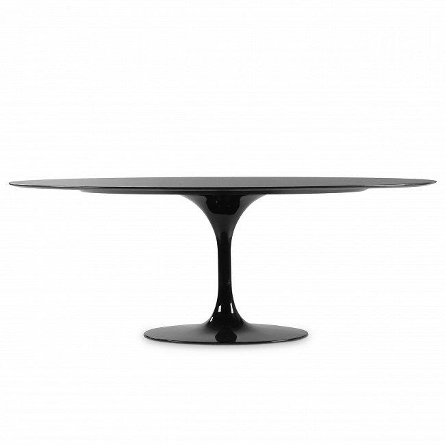 Овальный обеденный стол Tulip со столешницей из черного гранита
