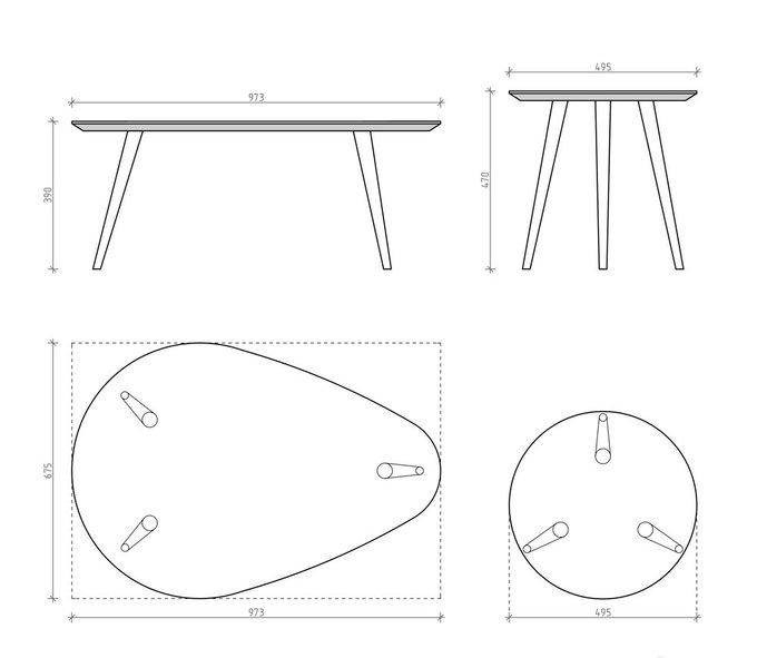 Комплект журнальных столов Scale орех