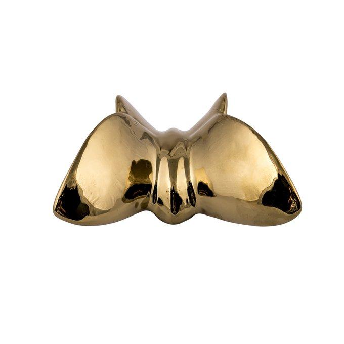 Настенный декор бабочка Mahaon 2 золотого цвета