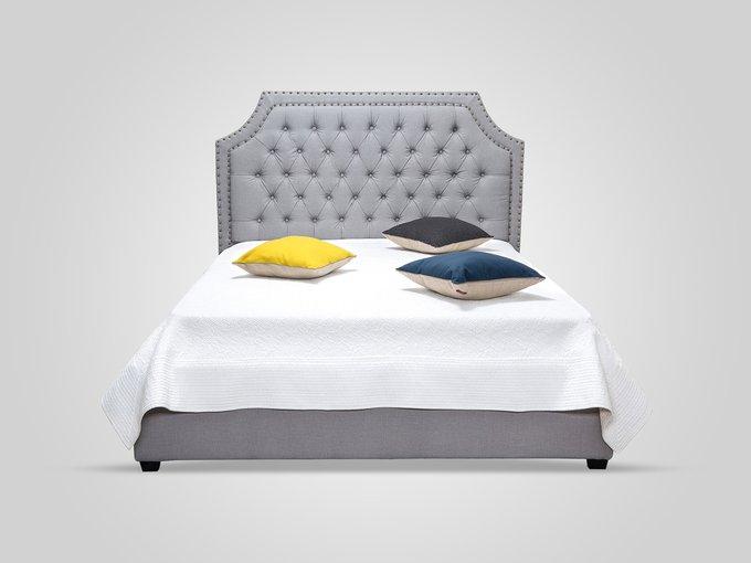 Кровать с подъемным механизмом серого цвета 160X200