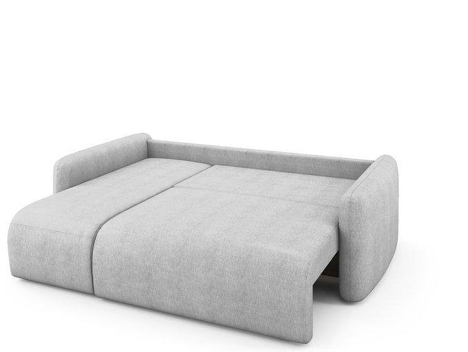 Угловой раскладной диван Arti левый светло-серого цвета