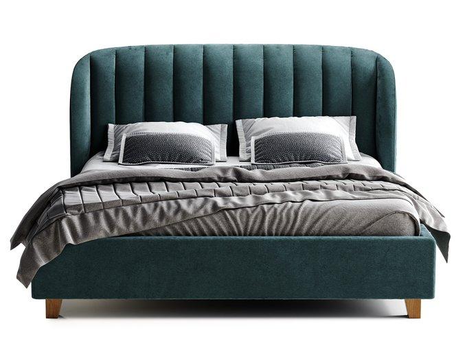 Кровать Tulip синего цвета 200х200