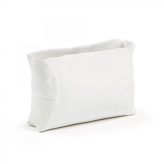 Керамическая ваза Crafty белого цвета