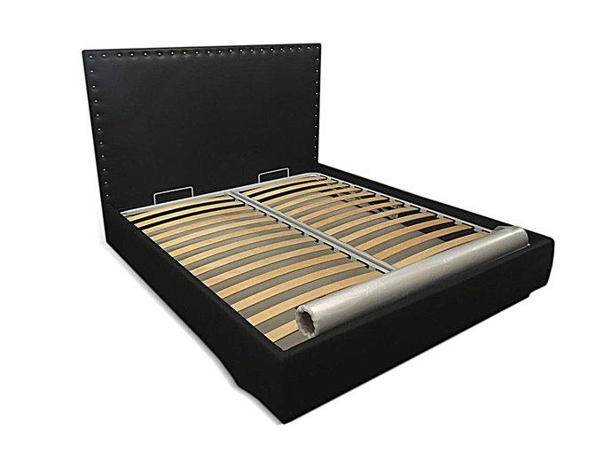 Кровать Лили черного цвета 180х200 с ящиком для хранения