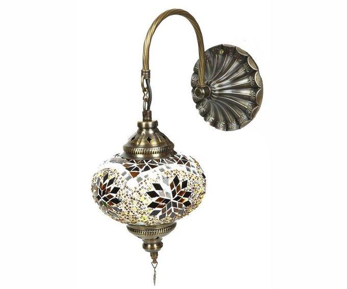 Бра Марокко из металла и стекла