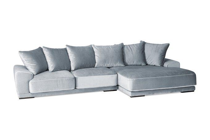 Угловой диван Gustavo серого цвета