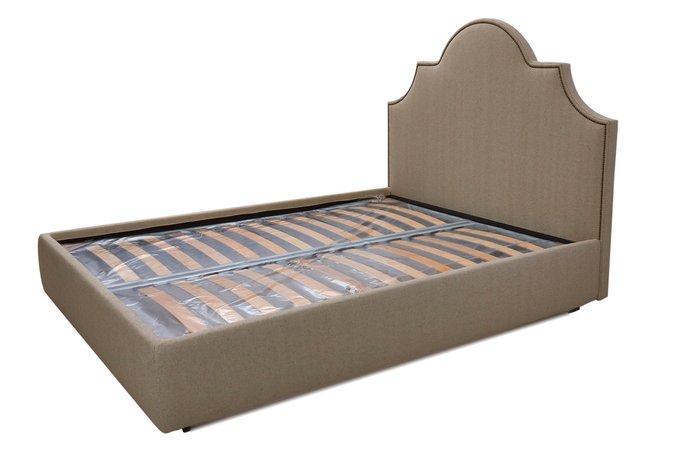 Кровать Фиби серо-коричневого цвета 200х200