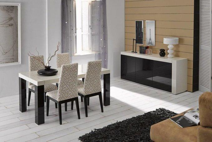 Прямоугольный раздвижной обеденный стол Ines бежевого цвета