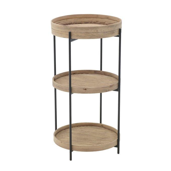 Кофейный стол из металла и бамбука
