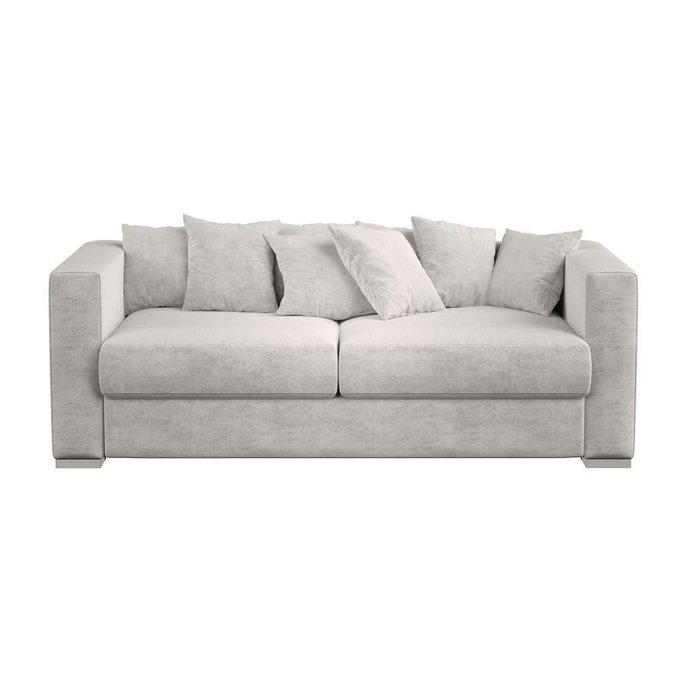 Модульный раскладной диван Lounge серого цвета