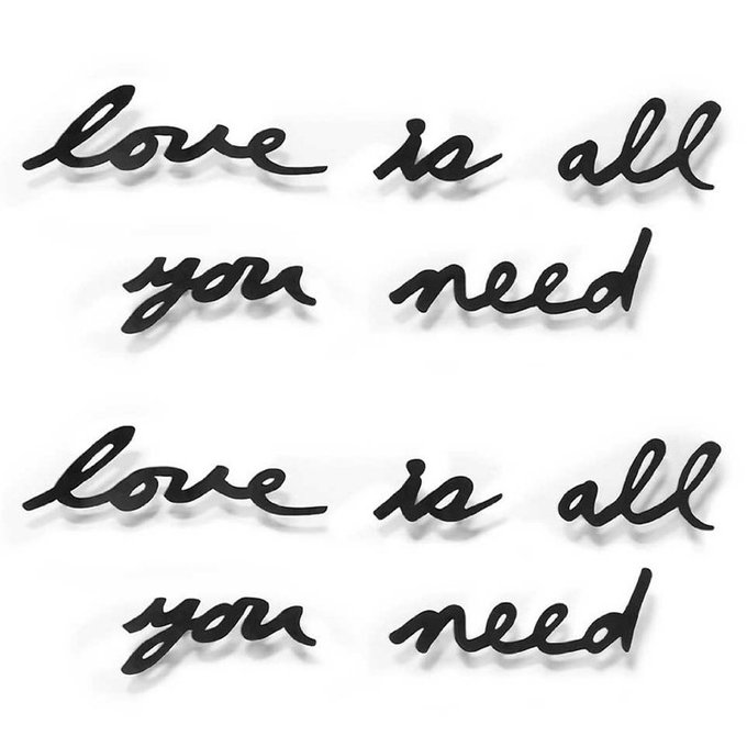 Надпись декоративная Umbra love is all you need