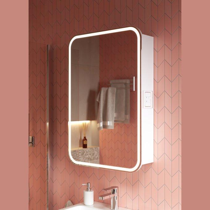 Зеркальный шкаф Lana 55 белого цвета