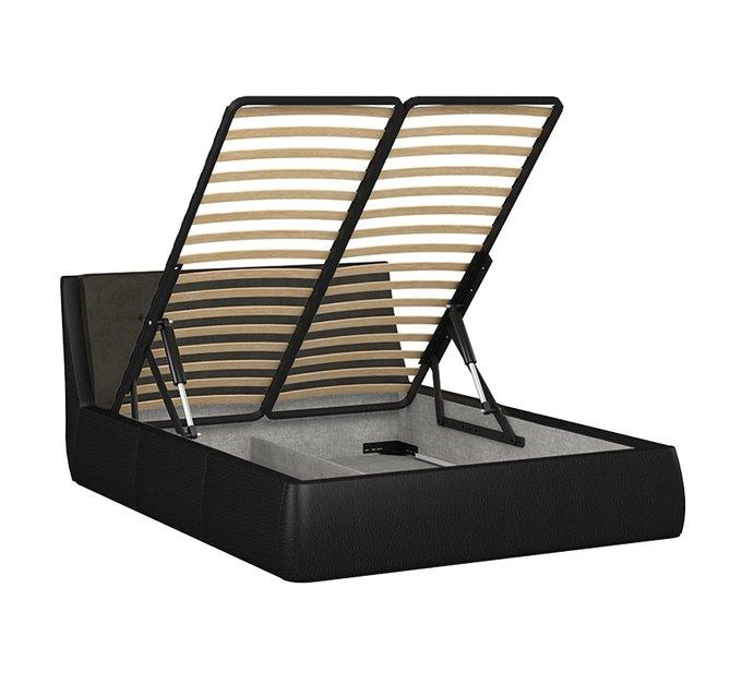 Кровать Гесиона 160х200 черного цвета с подъемным механизмом
