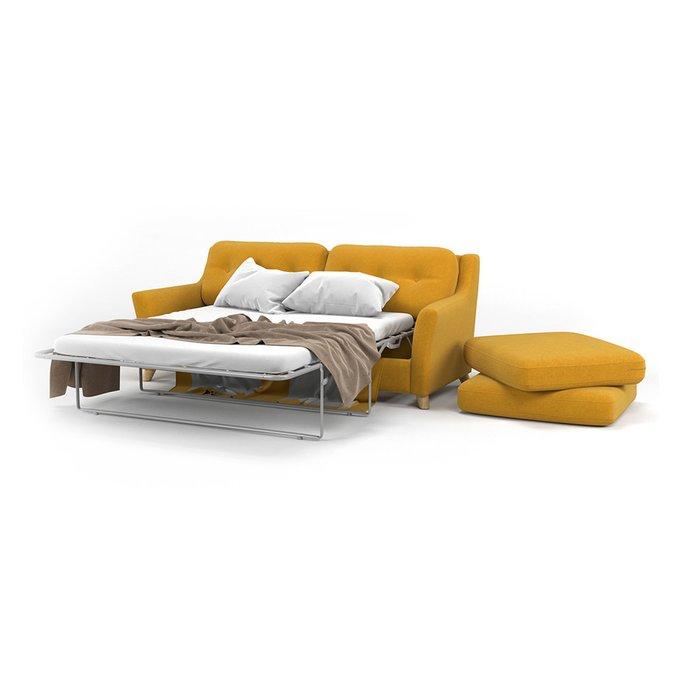 Диван-кровать Raf MT трехместный желтого цвета