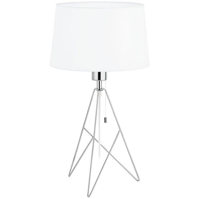 Настольная лампа Eglo Camporale с белым абажуром