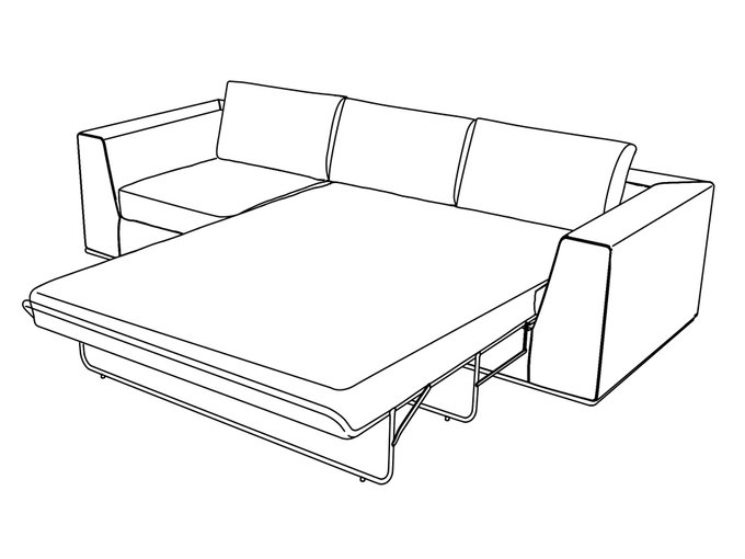 Диван-кровать трёхместный Igarka