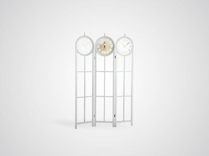 Ширма стеклянная с часами 187x120x3 см