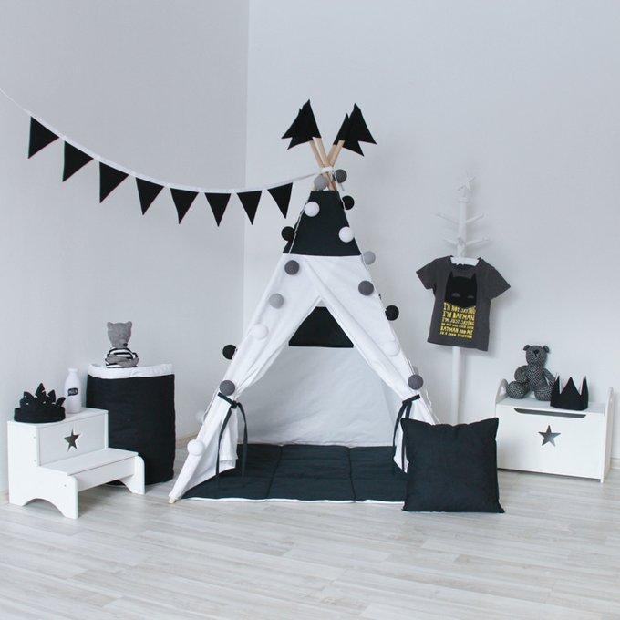 Стеганый игровой коврик Black&White
