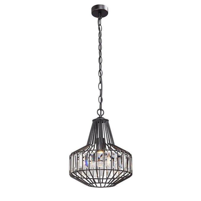 Подвесной светильник с плафоном из металла и стекла