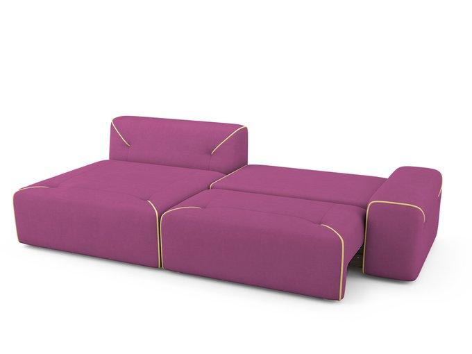 Угловой Диван-кровать Portu левый пурпурного цвета
