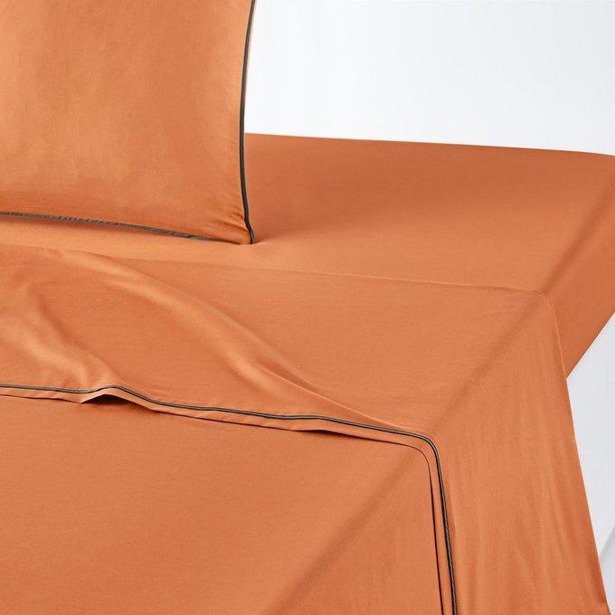Простынь Duo из перкаля оранжево цвета 270x290