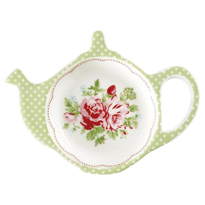 Блюдце для чайных пакетиков Mary white из фарфора