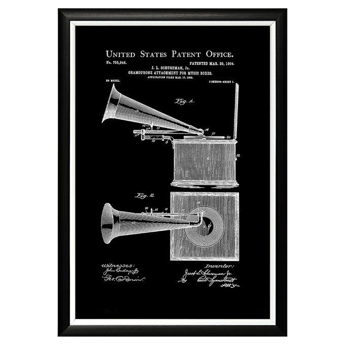 Арт-постер Патент на граммофонную трубу