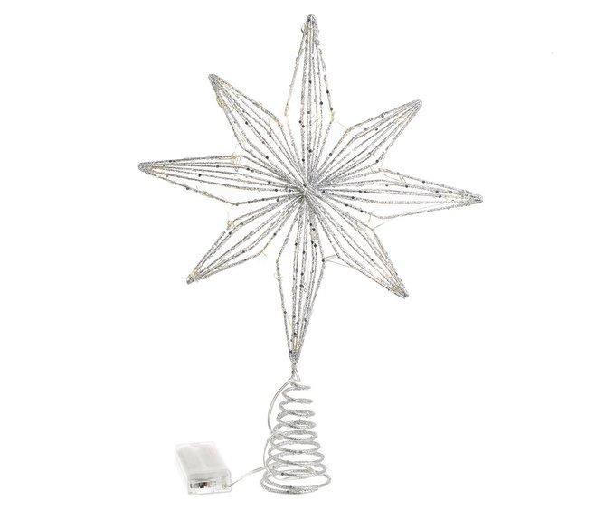 Новогоднее украшение Led звезда серебристого цвета
