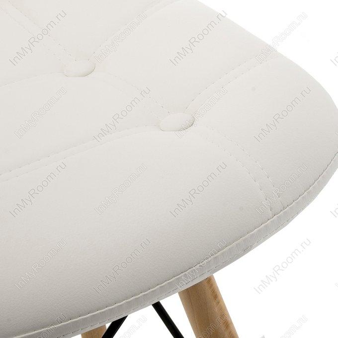 Мягкий стул Kvadro белого цвета