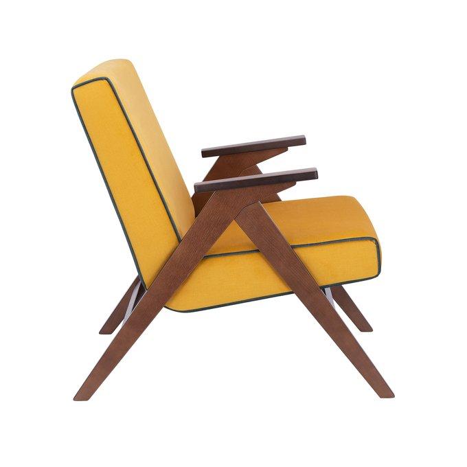 Кресло для отдыха Вест желтого цвета