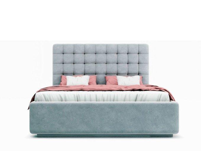 Кровать Vita серого цвета с ортопедическим основанием 180х200