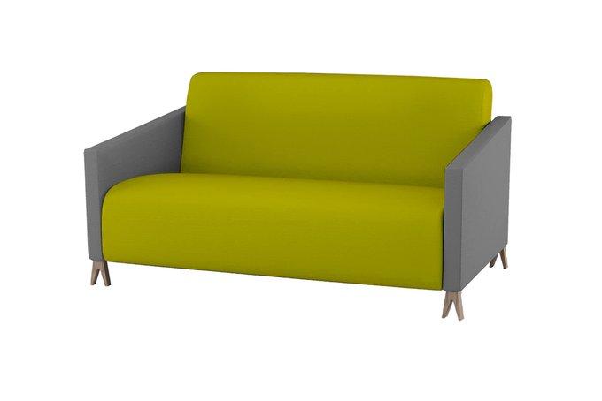 Двухместный диван Sova желто-горчичного цвета