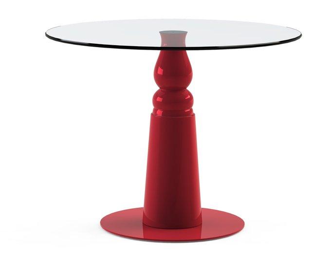 """Стол обеденный """"IGNIS Red"""" со столешницей из стекла"""