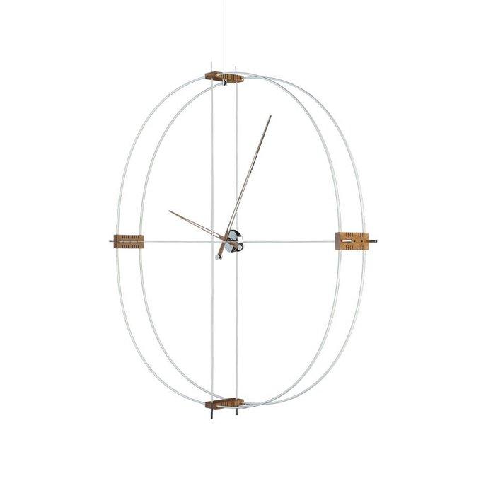 Настенный часы Delmori с корпусом из хромированной стали
