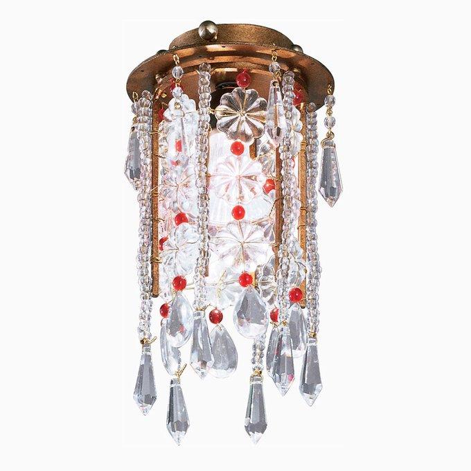 Потолочный светильник Tredici с кулонами и бусинами из муранского стекла