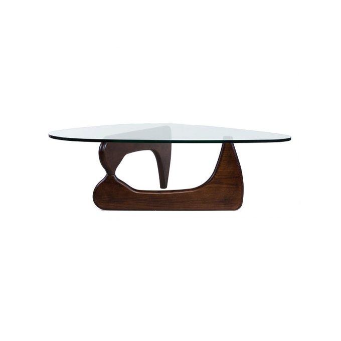 Журнальный стол Noguchi со стеклянной столешницей