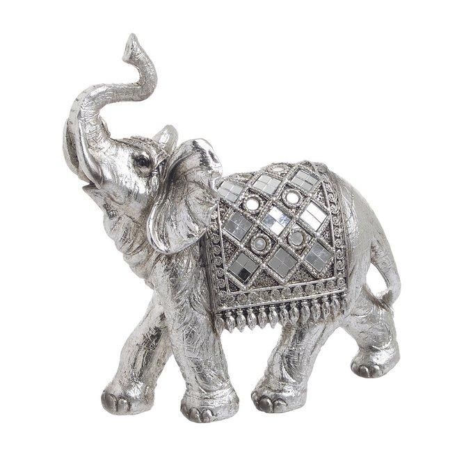 Статуэтка Слон серебряного цвета