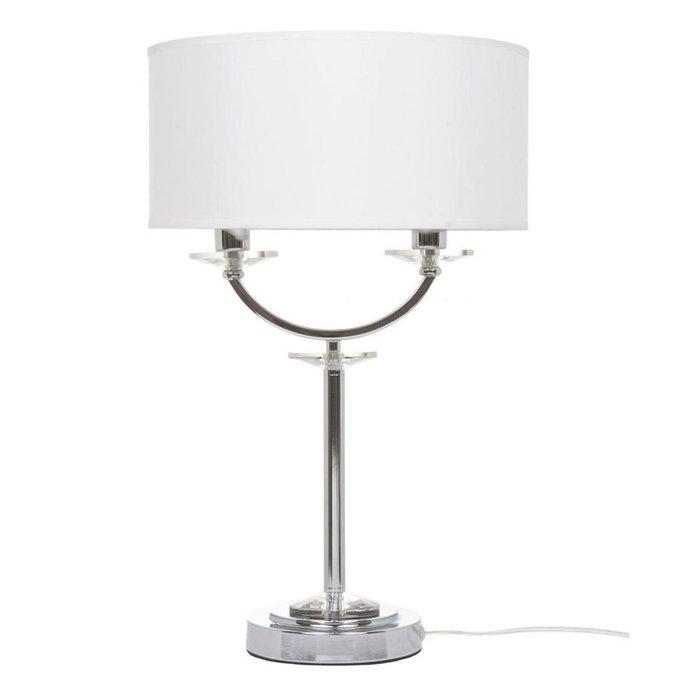 Настольная лампа Tina с белым абажуром