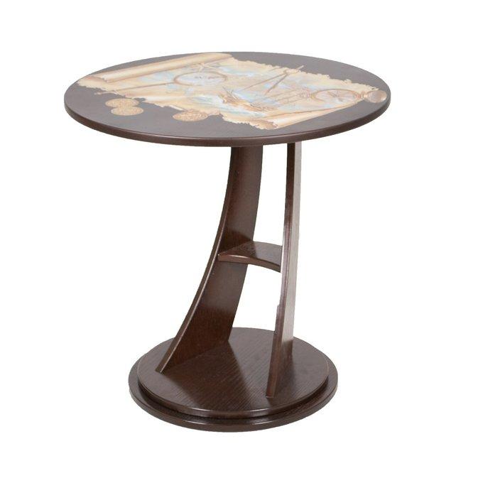 Приставной столик Акцент Стандарт со шпонированной столешницей