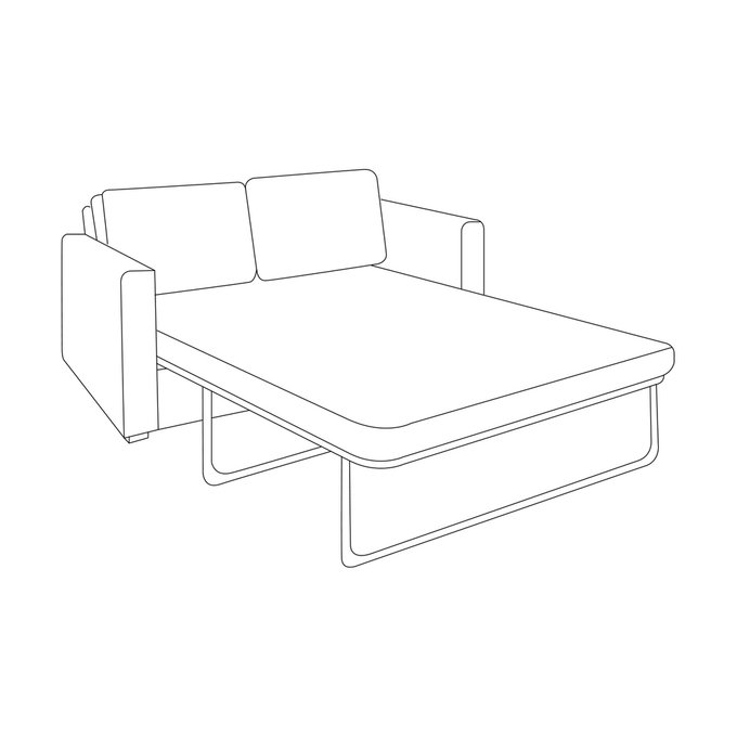 Двухместный диван-кровать Агата M коричневого цвета