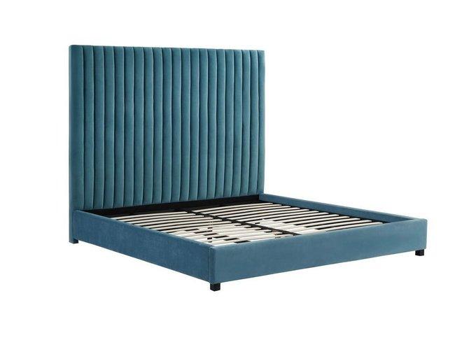 Кровать Марчелла зеленого цвета 160х200 с ящиком для хранения