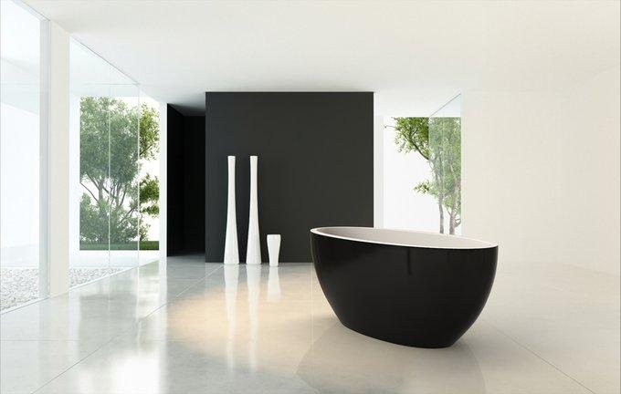 Каменная Ванна Sensuality Mini Черно-Белая