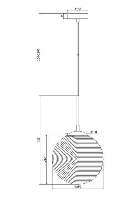 Подвесной светильник Lumina с плафоном серого цвета